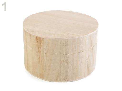 Drevená krabička k ozdobeniu buk 3ks