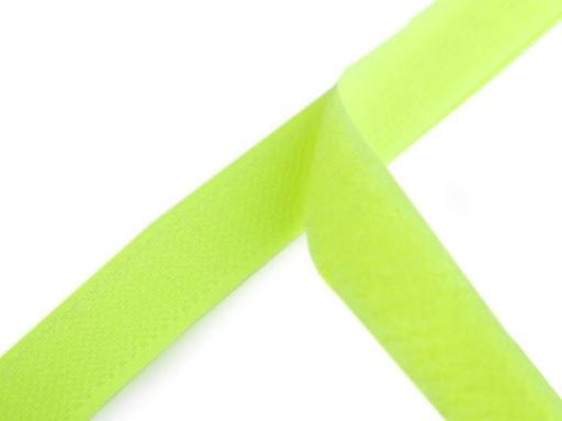 Suchý zips háčik + plyš šírka 20 mm zelený neon Green Yelow 100m