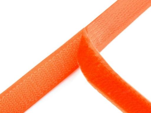 Suchý zips háčik + plyš šírka 20 mm oranžový neon oranžová 100m