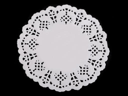 Papierová čipka na výrobu anjelov a stromčekov Ø9 cm biela 1sáčok