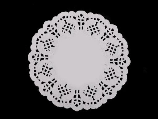 Papierová čipka na výrobu anjelov a stromčekov Ø10 cm biela 1sáčok