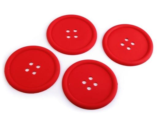 Silikónové gombíky sada 4 ks Ø9 cm mliečna 1sada