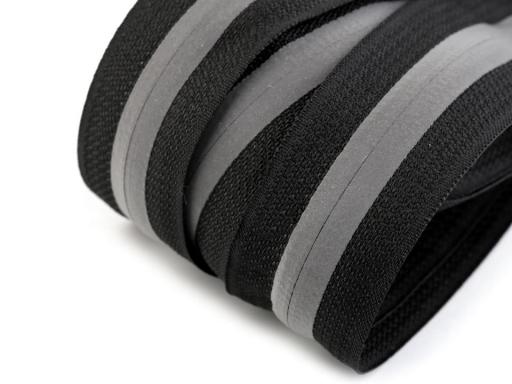 Zips špirálový krytý šírka 5 mm metráž reflexný čierna 3m 6d7a2d77db2