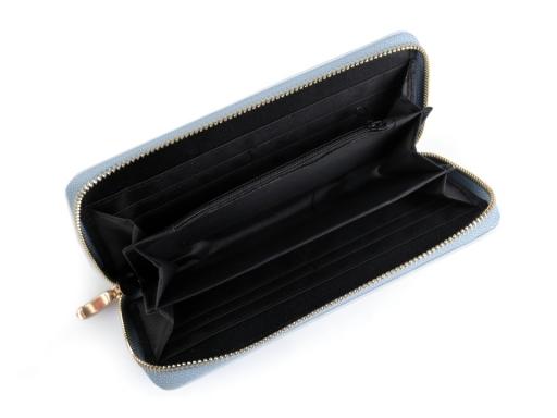 Dámska peňaženka 10x19 cm 2. akosť modrá ľadová 1ks