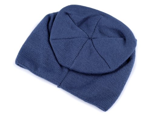 Pletená čiapka modrá berlínska 1ks