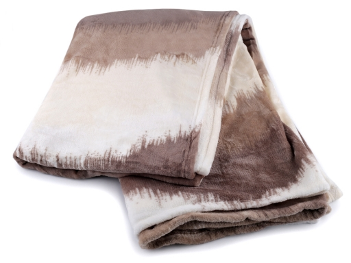 Predĺžená deka fleece 150x245 cm hnedá 1ks