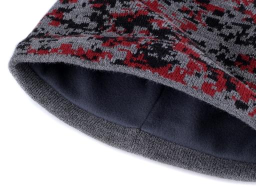 Pánska zimná čiapka Capu červená 1ks