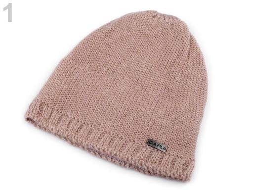 Pletená čiapka Capu pudrová 1ks