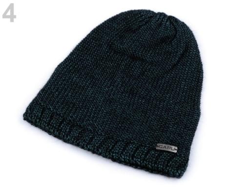 Pletená čiapka Capu modrozelená 1ks