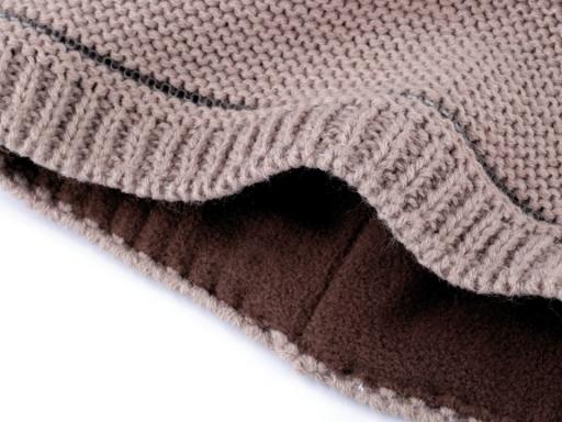 Dámska zimná čiapka s brmbolcom a reflexným prvkom Capu béžová tm. 1ks