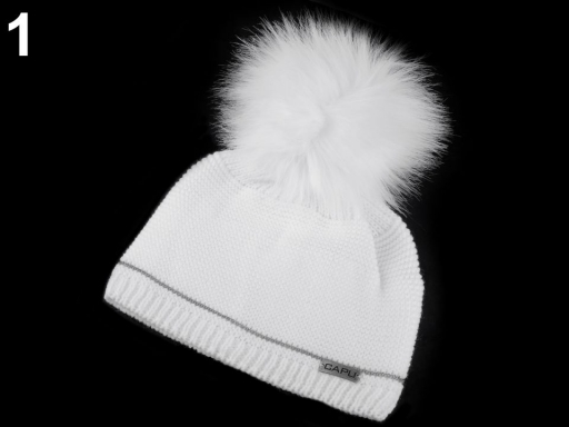 3020ef501 Dámska zimná čiapka s brmbolcom a reflexným prvkom Capu béžová 1ks