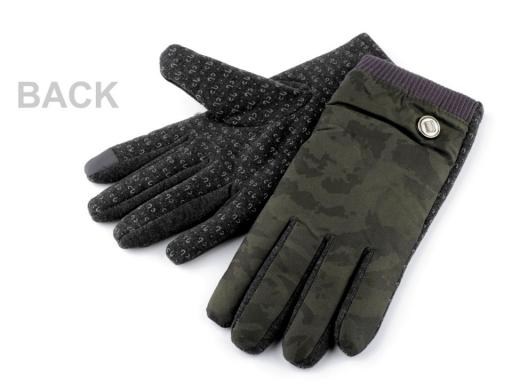 Pánske rukavice maskáčové / army zelená 1pár