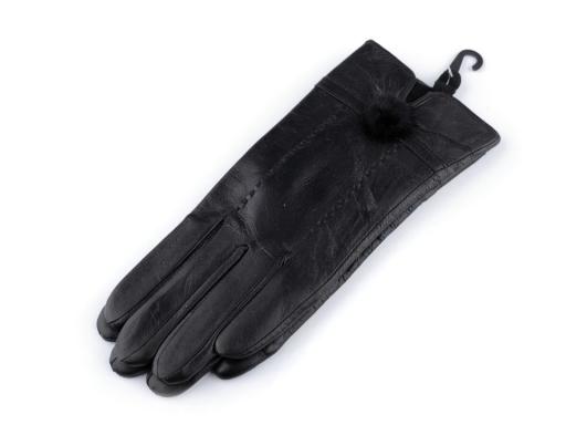 Dámske kožené rukavice s kožušinou čierna 1pár b56312785c