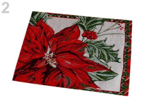 Gobelínové prestieranie 35x46 cm vianočné červená 2ks