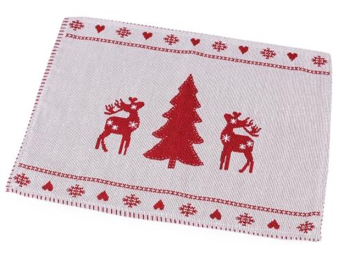 Gobelínové prestieranie 33x45 cm vianočné 2. akosť červená 5ks