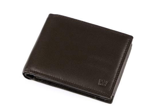 Pánska peňaženka kožená v krabičke hnedá tm. 1ks
