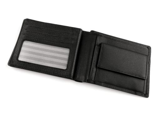 Pánska peňaženka kožená v krabičke čierna 1ks