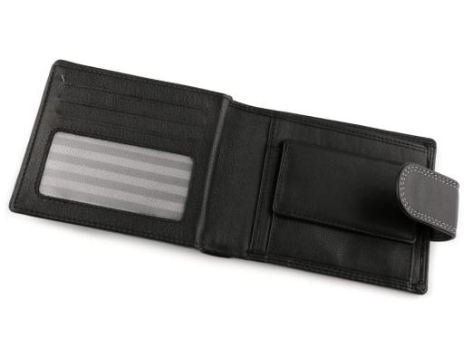 Pánska peňaženka kožená čierna 1ks