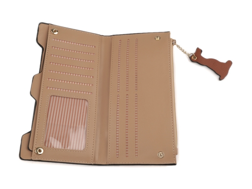 Dámska peňaženka / dokladovka psi 10x20 cm béžová 1ks