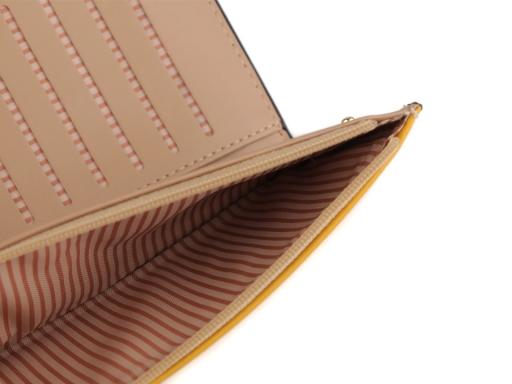 Dámska peňaženka / dokladovka psi 10x20 cm horčicová 1ks