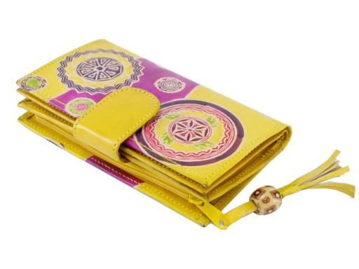 Dámska peňaženka kožená horčicová 1ks