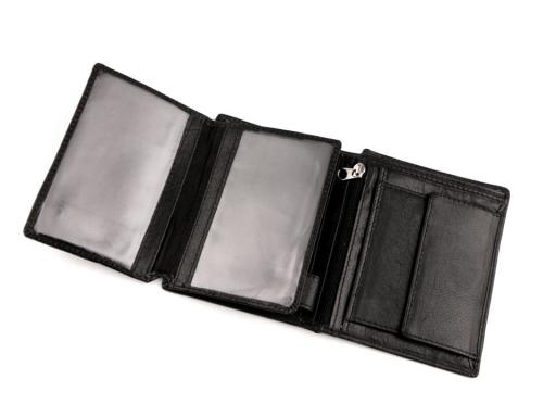 Peňaženka pánska kožená čierna 1ks
