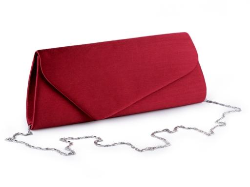 Malá kabelka - lístoček saténová s vrúbkovanou štruktúrou modrá tmavá 1ks