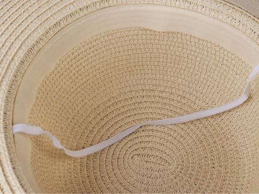 Dámsky klobúk / slamák s mašľou režná svetlá 1ks