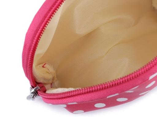Kozmetická taška priehľadná, prúžkovaná a bodkovaná, sada 3 ks pink 1sada