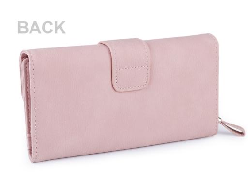 Dámska peňaženka / dokladovka 11x19 cm pudrová 1ks