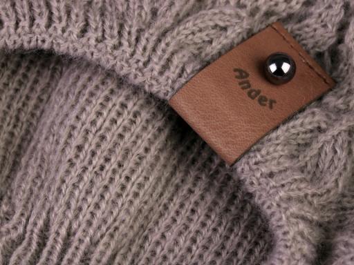 Dámska pletená čiapka béžová 1ks
