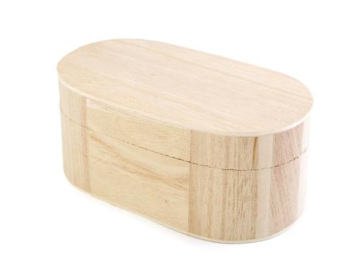 Drevená krabička na ozdobenie 2. akosť buk 1ks