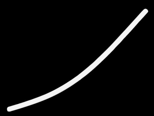 Penový polotovar k výrobe vencov a slavobrán biela 2ks