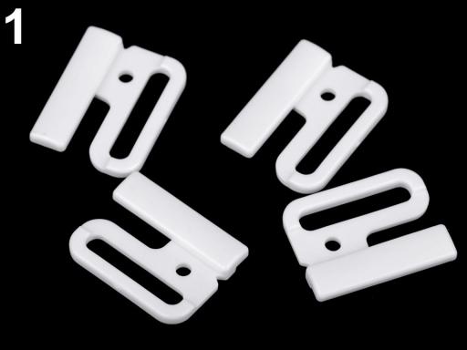 35120987e Zapínanie plavkové / opaskové šírka 25 mm plastové biela 2pár