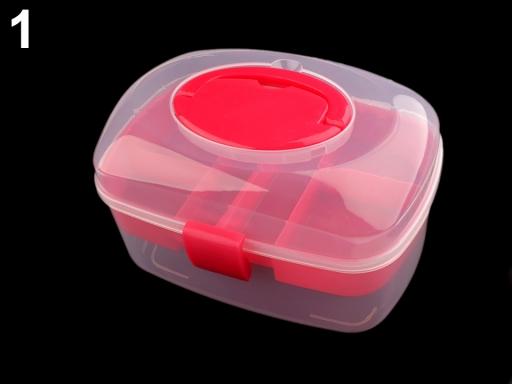 Plastový box / kufrík pink 1ks