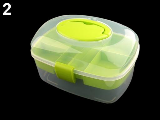 Plastový box / kufrík zelená sv. 1ks