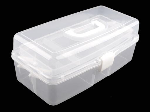Veľký plastový box / kufrík rozkladací Transparent 1ks