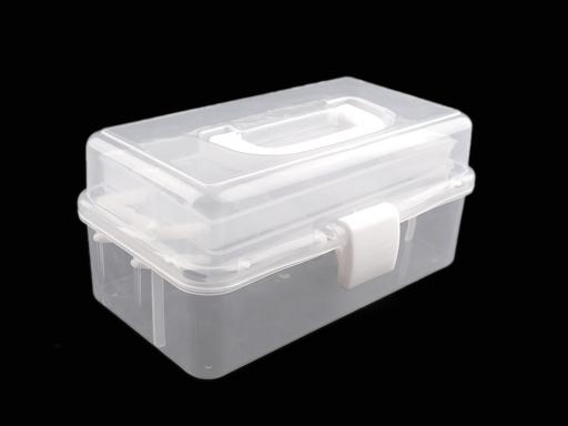 Plastový box / kufrík rozkladací Transparent 1ks