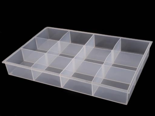 Plastový box / zásobník 23x34,5x4,5 cm Transparent 1ks