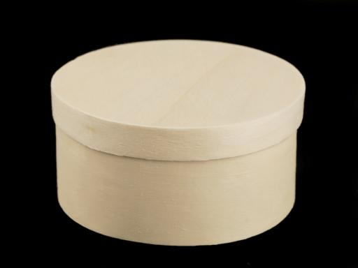 Drevená krabička okrúhla na ozdobenie buk 1ks