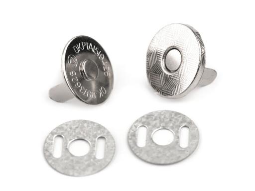 Magnetické zapínanie tenké Ø14 mm nikel 5sada