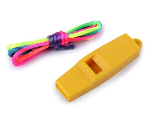Píšťalka / prívesok žltá 1ks