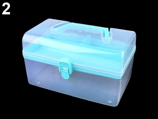Plastový box / kufrík modrá azurová 1ks