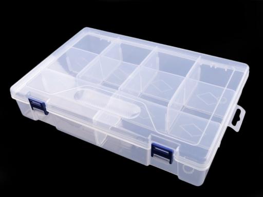 Plastový box / zásobník 6x20x30 cm Transparent 1ks