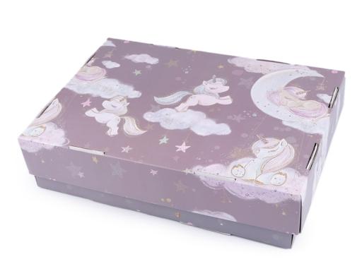 Plechová krabička jednorožec najsvetlejšia fialová 1ks