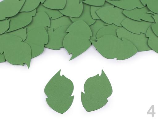 Foamiran listy zelená sv. 1sáčok