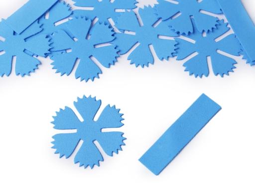 Foamiran kvet nevädza Ø49 mm modrá azuro 1sáčok