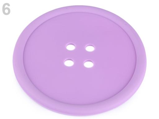 Silikónová podložka gombík Ø12 cm žltá 1ks