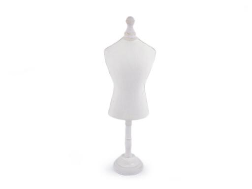 Dekoračná krajčírska panna malá 47 cm režná svetlá 1ks