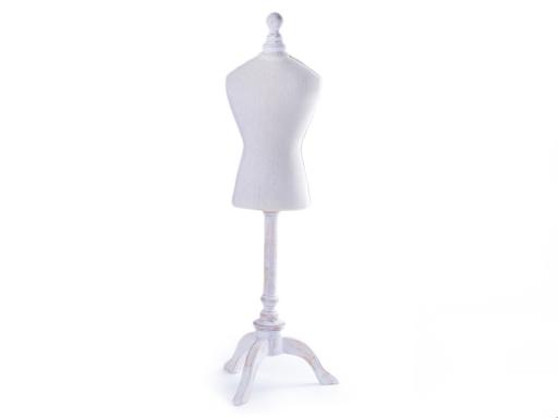 Dekoračná krajčírska panna veľká 67 cm režná svetlá 1ks